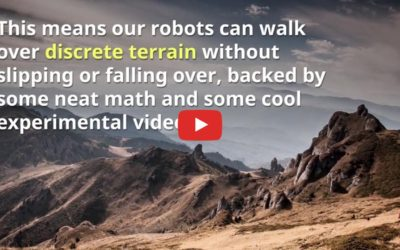 Researchers train bipedal robots to step lightly over rough terrain